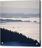 View Of Fog-covered Willamette Valley Acrylic Print