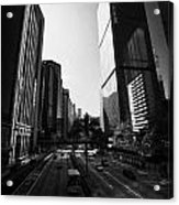 View Of Gloucester Road Wan Chai Skyscrapers Including Revenue Immigration Tower Building Hong Kong Acrylic Print by Joe Fox