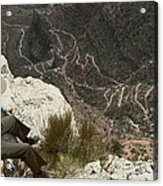 View Of Hiking Trails From High Above Acrylic Print