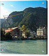 View Of Interlaken Across The Stream Acrylic Print