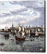 View Of London, 1550 Acrylic Print