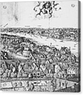 View Of London, 1647 Acrylic Print