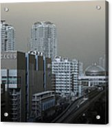 View Of Modern Tokyo Acrylic Print