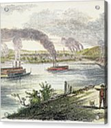 View Of Pittsburgh, 1853 Acrylic Print by Granger