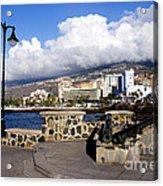 View Of Puerto De La Cruz From Plaza De Europa Acrylic Print
