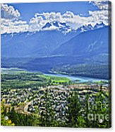 View Of Revelstoke In British Columbia Acrylic Print