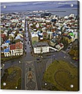 View Of Reykjavik Acrylic Print