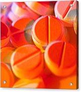 View Of Several Scored Paracetamol Tablets Acrylic Print