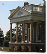 View Of South Portico At Poplar Forest Acrylic Print