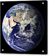 View Of The Earth From Space Showing Acrylic Print by Stocktrek Images