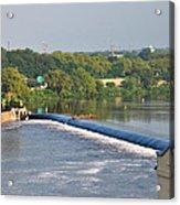 View Of The Fairmount Dam  Acrylic Print