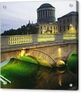 View Of The Four Courts And The Liffey Acrylic Print