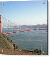 View Of The Golden Gate Bridge And San Francisco From A Distance Acrylic Print