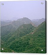 View Of The Great Wall Of China Acrylic Print