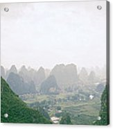 View Of The Guilin Mountains In Guangxi In China Acrylic Print