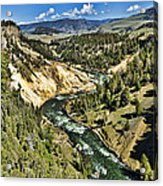 View Of The River Acrylic Print