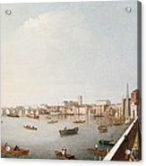 View Of The River Thames From The Adelphi Terrace  Acrylic Print