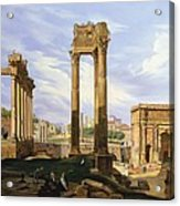 View Of The Roman Forum Acrylic Print