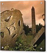 View Of The Round Tower And Gravestones Acrylic Print