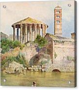 View Of The Sbocco Della Cloaca Massima Rome Acrylic Print