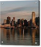 View Of The Waterfront And Downtown Acrylic Print