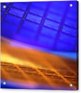 View Of Two Silicon Wafers With Their Chips Acrylic Print