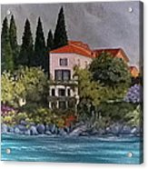 View Of Varenna Acrylic Print by Linda Scott
