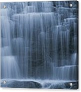 View Of Water Cascading Acrylic Print