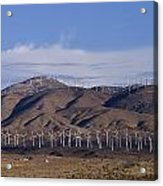 View Of Windmill Structures On A Wind Acrylic Print