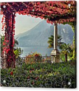 Villa Cipressi Pergola On Lake Como I Acrylic Print