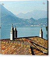 Villa Monastero Rooftop And Lake Como Acrylic Print