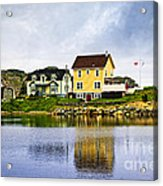 Village In Newfoundland Acrylic Print