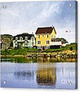 Village In Newfoundland Acrylic Print by Elena Elisseeva
