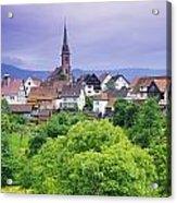 Village Of Rottelsheim, Alsace, France Acrylic Print