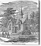 Village Schoolhouse, C1840 Acrylic Print
