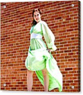 Vintage 1940's Green Dress 2 Acrylic Print