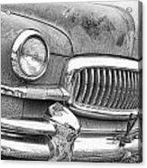 Vintage 1951 Nash Ambassador Front End 2 Bw Acrylic Print
