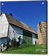 Vintage American Barn And Silo 1 Of 2 Acrylic Print