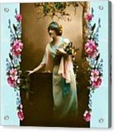 Vintage Aqua Acrylic Print