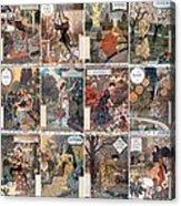 Vintage Art Nouveau French Calendar Art Acrylic Print