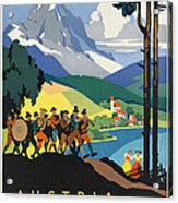 Vintage Austrian Travel Poster Acrylic Print