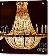 Vintage Ballroom Chandalier Fractal Acrylic Print
