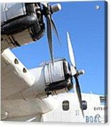 Vintage Boac British Overseas Airways Corporation Speedbird Flying Boat . 7d11265 Acrylic Print