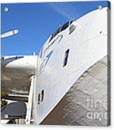 Vintage Boac British Overseas Airways Corporation Speedbird Flying Boat . 7d11273 Acrylic Print