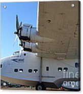 Vintage Boac British Overseas Airways Corporation Speedbird Flying Boat . 7d11291 Acrylic Print by Wingsdomain Art and Photography