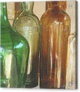 Vintage Bottles Acrylic Print by Georgia Fowler