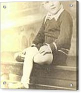 Vintage Boy Crossed Leg Acrylic Print