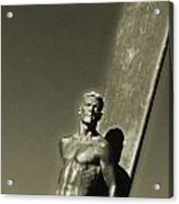 Vintage Bronze Surfer Acrylic Print