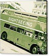Vintage Bus Acrylic Print by Sophie Vigneault