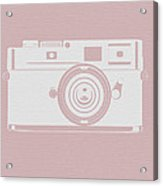 Vintage Camera Poster Acrylic Print by Naxart Studio